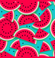 seamless pattern watermelon vector image vector image