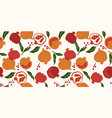 seamless pattern with pomegranatemodern vector image vector image