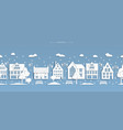 seamless winter street white paper buildings vector image