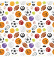 set balls isolated seamless pattern vector image vector image