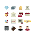 set of bank icons vector image