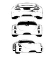 set of images of a conceptual sports car vector image vector image