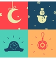Set of symbols the new year vector image vector image