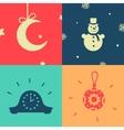 set symbols new year vector image vector image