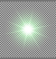 shining star on transparent background green vector image vector image