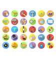 shopping categories flat icons vector image