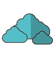simple cloud icon image vector image