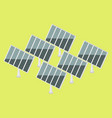 solar power plant isometric vector image