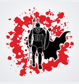 spartan warriorroman fighter with a spear walking vector image vector image