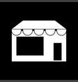 store white color icon vector image