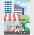 street food shop poster design template vector image