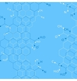 Structure molecule on blue background Graphic vector image