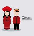 taiwan culture design vector image vector image