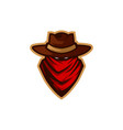 texas cowboy with hat mascot logo 3 vector image vector image