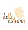 The inscription Hello autumn vector image