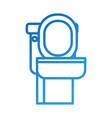 toilet bowl equipment bath ceramic cartoon icon vector image vector image