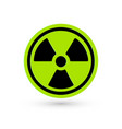 toxic green icon radiation pictograph vector image