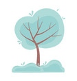 tree foliage greenery plant isolated icon design vector image