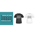urban t shirt print stamp vector image vector image