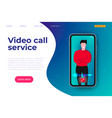 video call online service web page header template vector image vector image