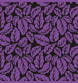 violet leaves seamless pattern vector image vector image