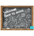 welcome back to school written chalk on a vector image vector image