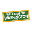 welcome to washington travel sticker or stamp vector image