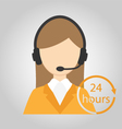 Women call center or Help desk or Operator vector image