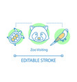 zoo visiting concept icon family time together vector image
