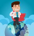 Business Man Worker Top World vector image