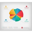 Modern 3d infographics pie chart for web or vector image