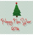 2016 modern design christmas tree Happy New Year vector image