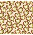 Abstract colorful Hearts on a beige background vector image vector image