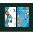 Abstract polygonal design brochure vector image vector image