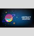 abstract technology mars planet design background vector image vector image