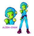 Alien space kid vector image