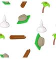 Attractions of Sri Lanka pattern cartoon style vector image vector image