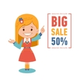 Big discounts seasonal sale banner vector image