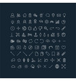 big modern thin line icon set vector image vector image