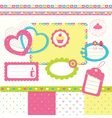 Birthday scrapbook set 3 vector image vector image