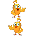 Cartoon chick pointing vector | Price: 1 Credit (USD $1)