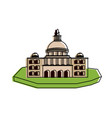 castle on isolated land icon image vector image
