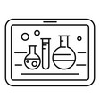 chemistry on tablet icon outline style vector image