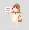 christmas dog cute cartoon puppy character vector image vector image