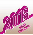christmas pink typographic vector image vector image