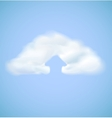 Cloud computing icon with arrow upload vector image vector image