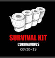 coronavirus concept funny and anti-stress and vector image