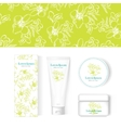 cosmetic white package mock-up vector image