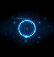 deep light center circuit digital technology vector image