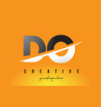 do d o letter modern logo design with yellow vector image vector image
